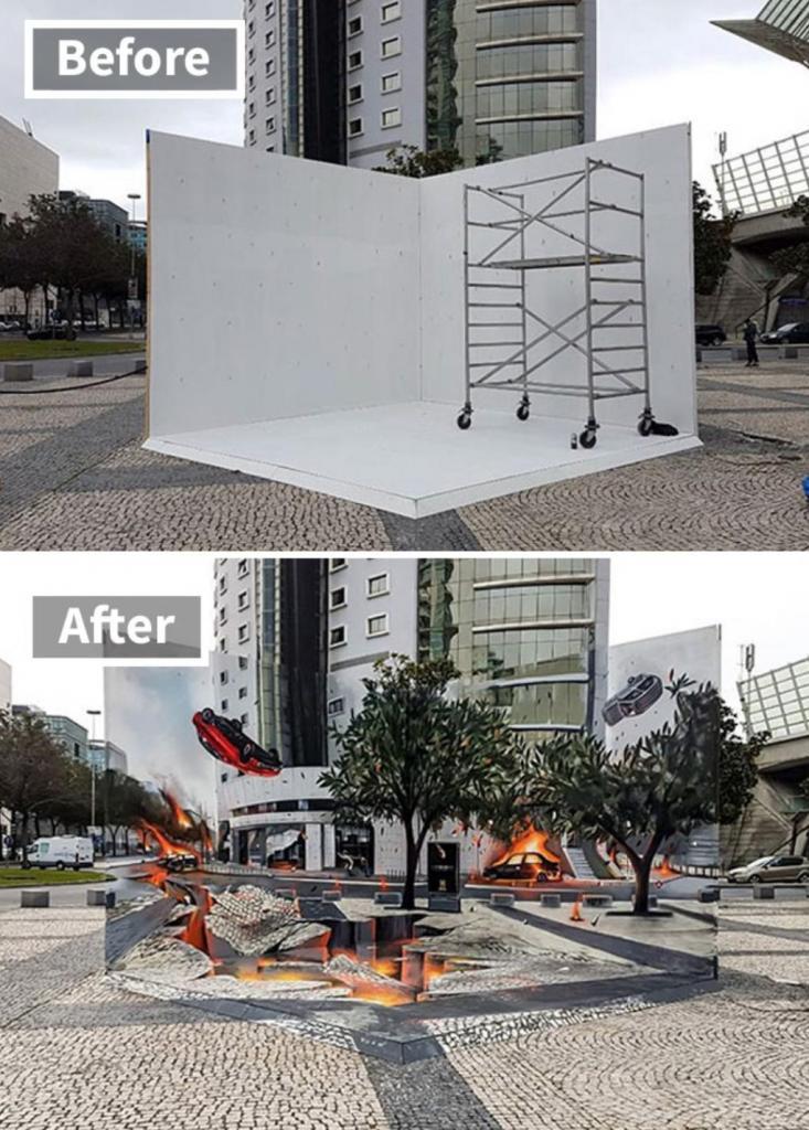 Новый вид искусства: впечатляющие 3D-рисунки, которые можно спутать с реальностью