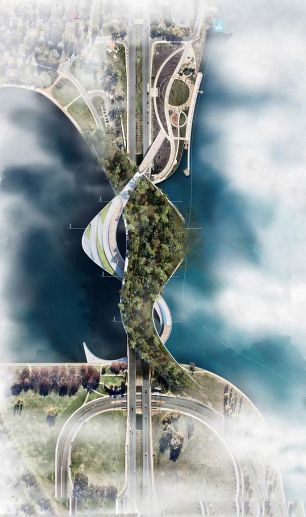 Новый ленточный мост в Австралии, имитирующий безопасное пересечение с дикой природой, удивляет своей красотой
