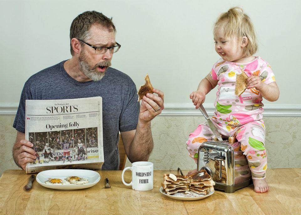 Днем, прикольные картинки отца с дочкой