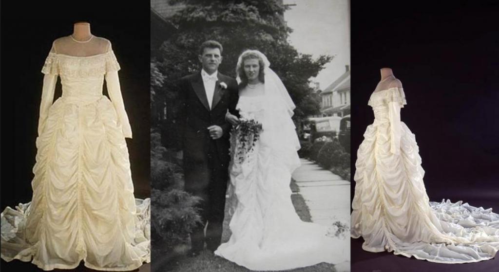 Две женщины рассказали, почему они вышли замуж в платьях из парашютов Второй мировой