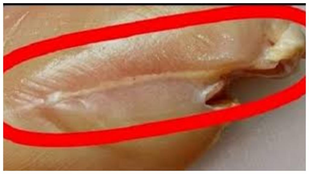Белые полоски на курином филе: что они собой представляют и можно ли есть такое мясо
