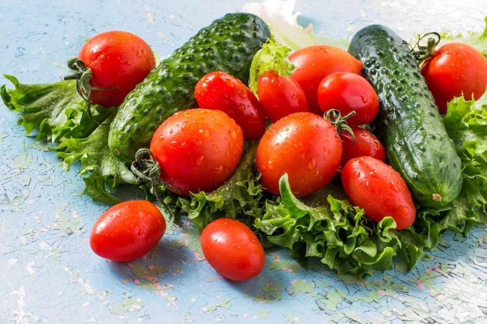 Картинки с огурцами и помидорами