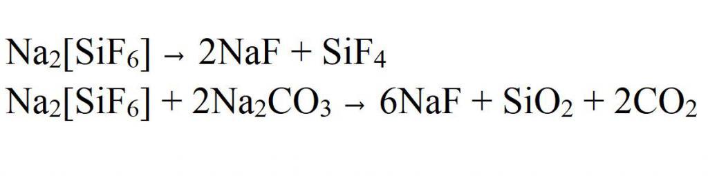 Other reactions of hexafluorosilicates
