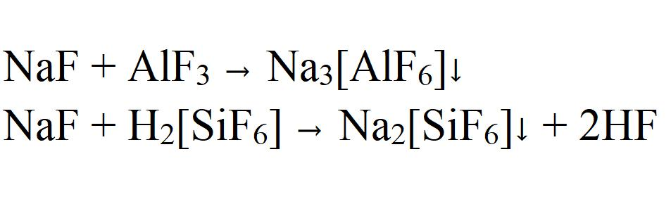 Formation of complexes