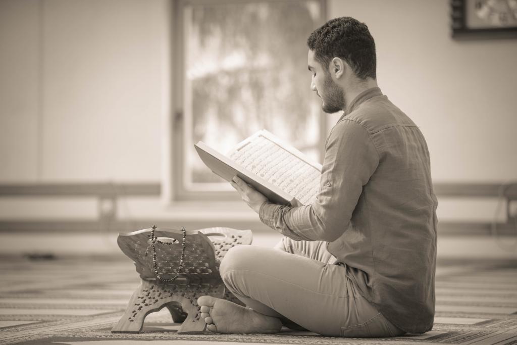 Muslim reading quran