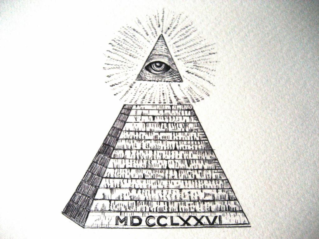 Золотой, картинка пирамида с надписями