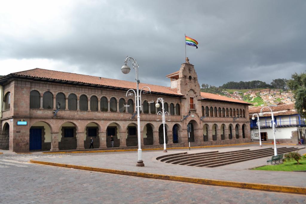 флаг инков на площади Куско