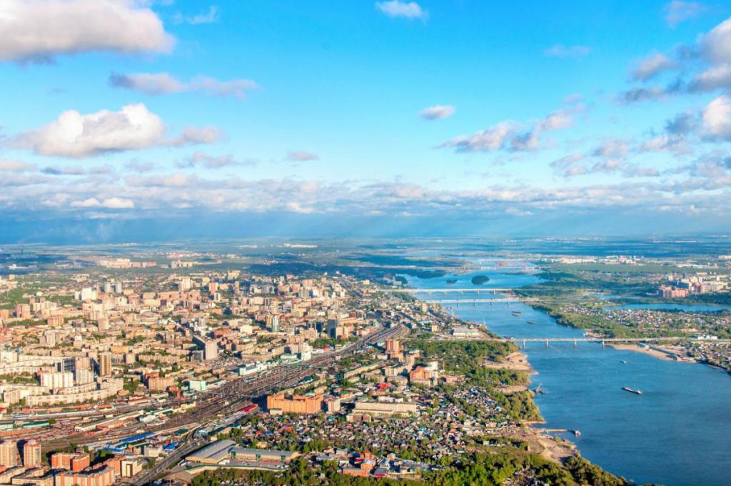 Новосибирск на реке Обь