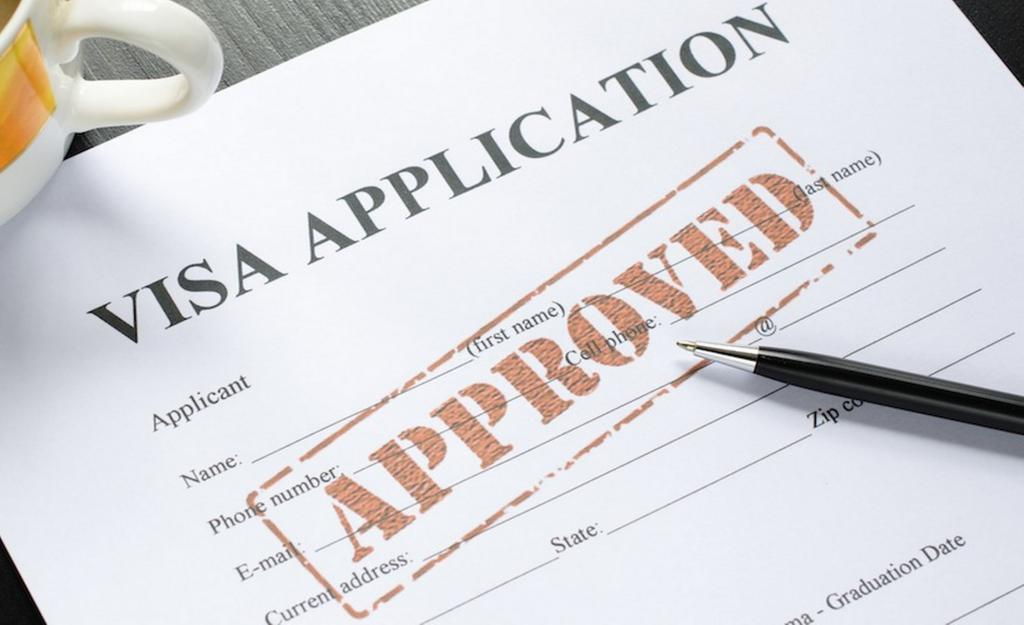 Visa application accepted