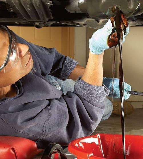Замена масла в картере двигателя