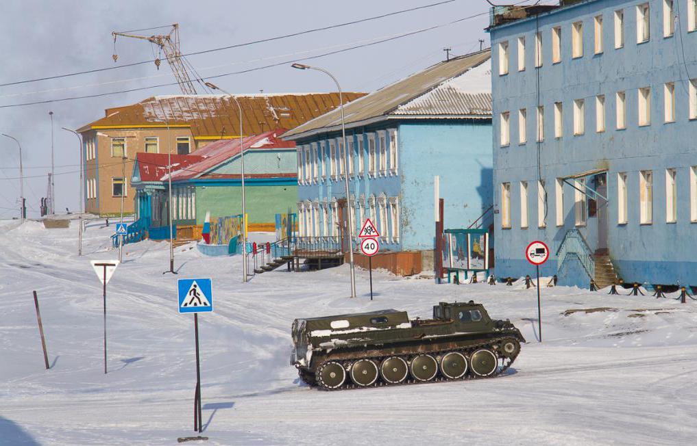 Поселок Тикси (Якутия) зимой