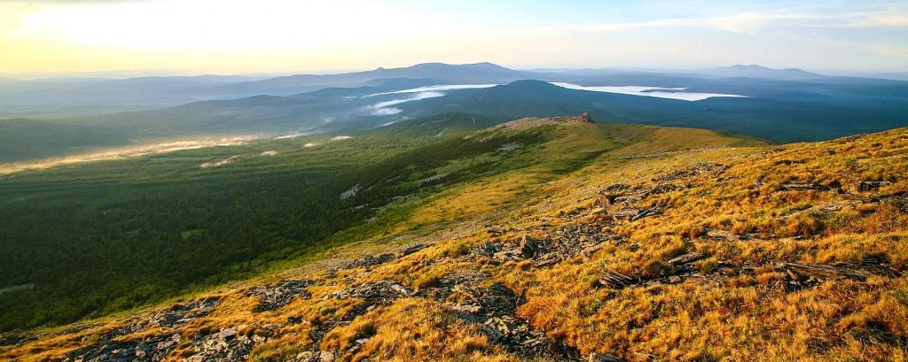 The foothills of the Ural mountains in the Sverdlovsk region
