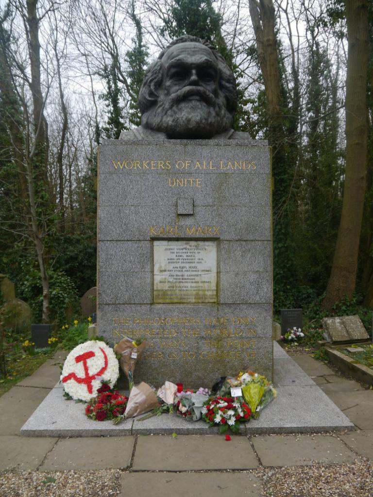 The tomb of Karl Marx