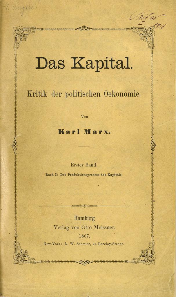 """Capital"" of Karl Marx"