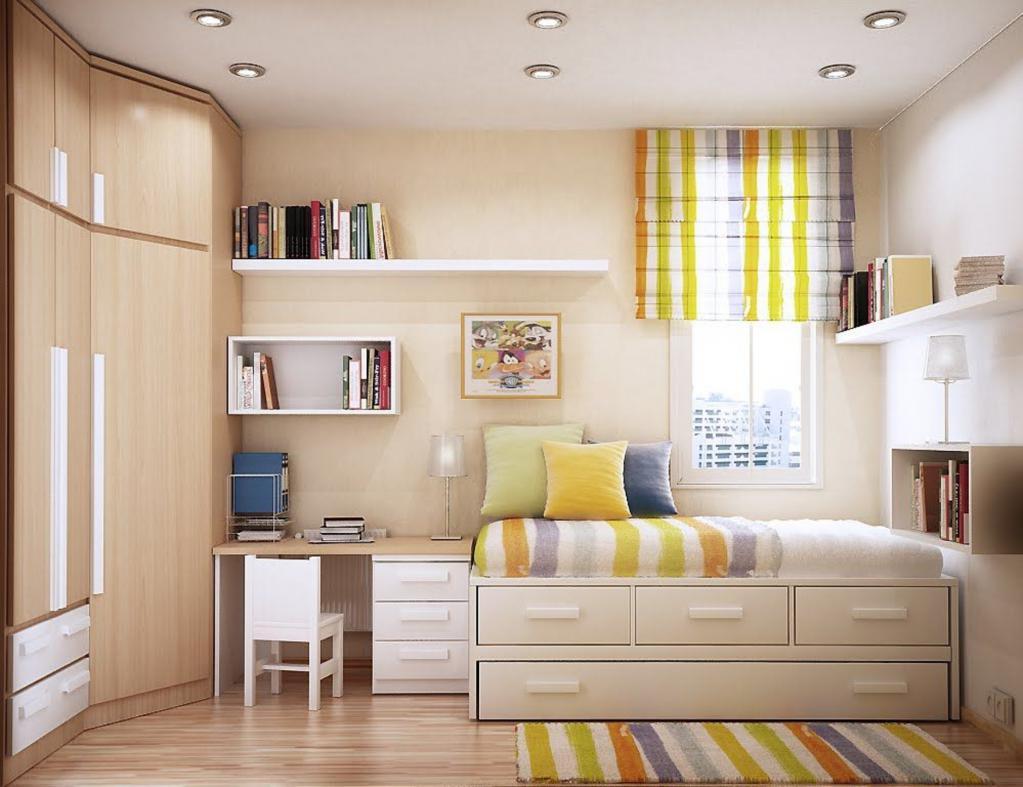 small square bedroom design