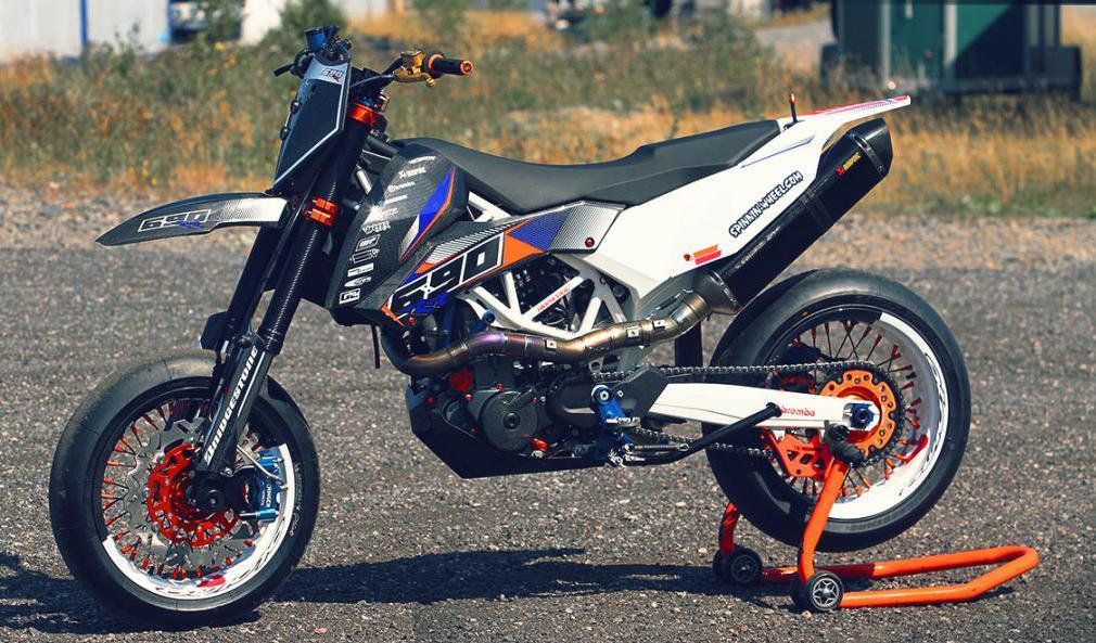 KTM 690 SMC White