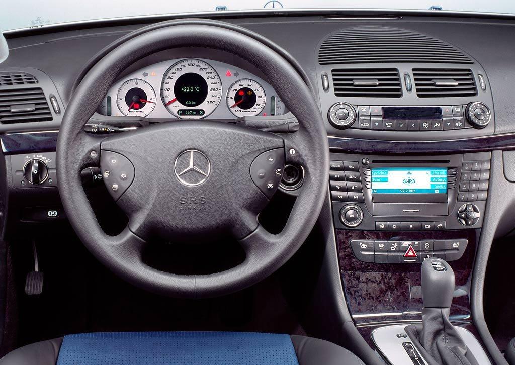 E55 W211 interior
