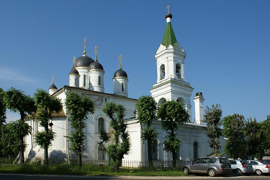 White church.