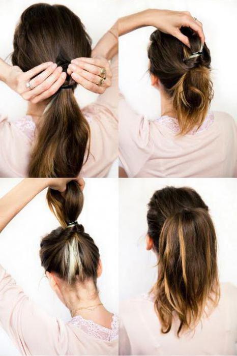 Причёски на длинные волосы с крабом