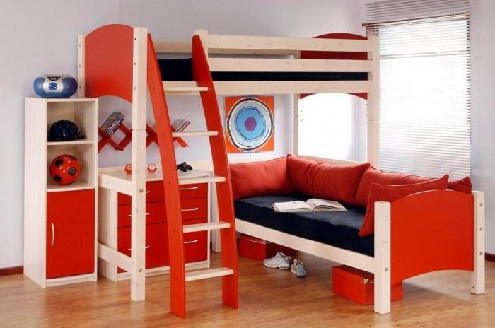 двухъярусная кровать для подростка