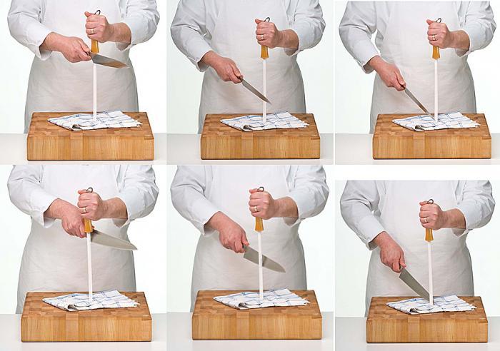 как точить ножи мусатом