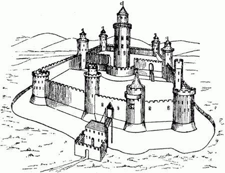 Рыцарский замок в