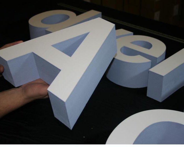 Буквы из пенопласта своими руками