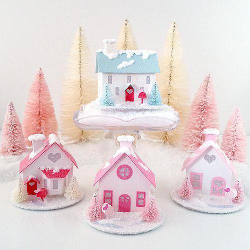 Зимний домик своими руками поделка