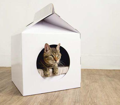 Зимний домик из картона