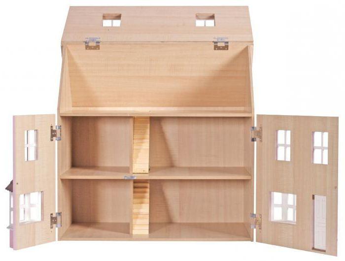 Деревянный кукольный домик фото