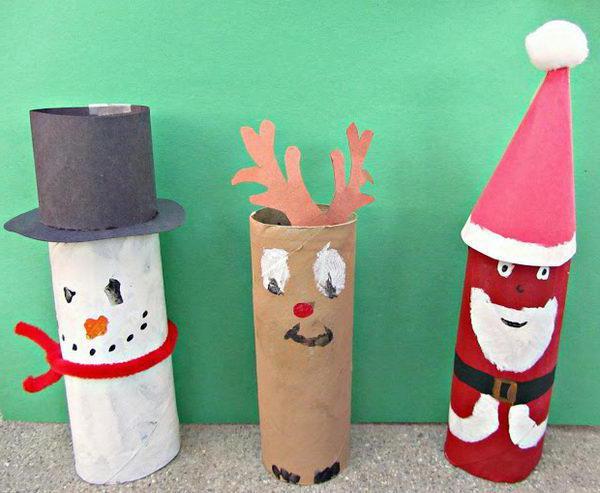 Дед мороз из рулона от туалетной бумаги