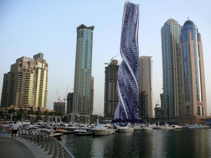 Вращающаяся башня дубай арабские эмираты