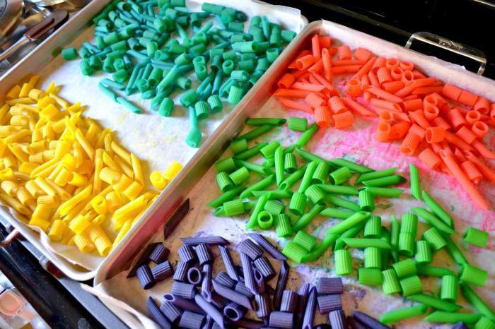 Как покрасить макароны для поделок