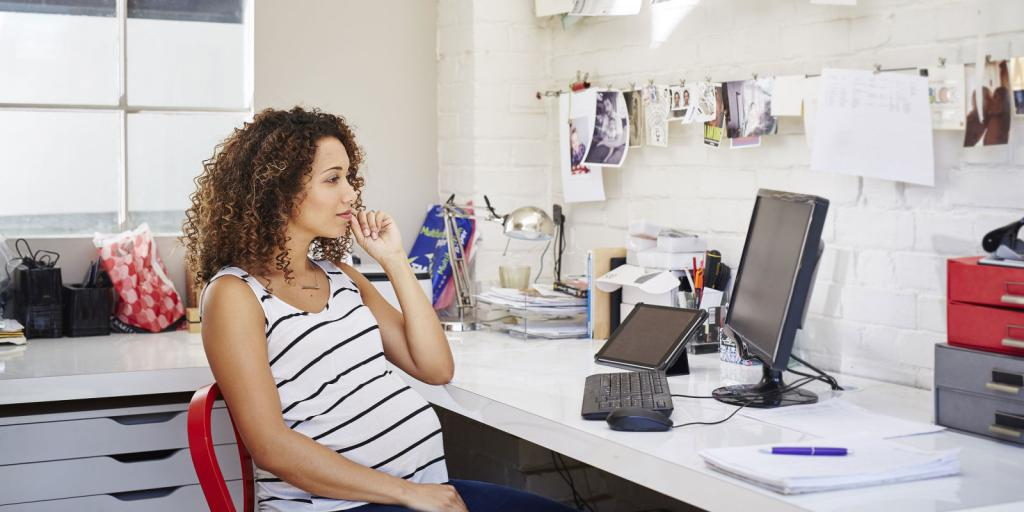 work at the computer during pregnancy