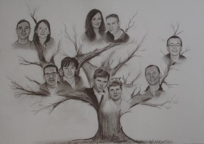 семейное дерево фото своими руками
