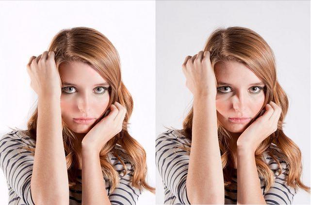 Изменить форму и цвет лица в фотошопе