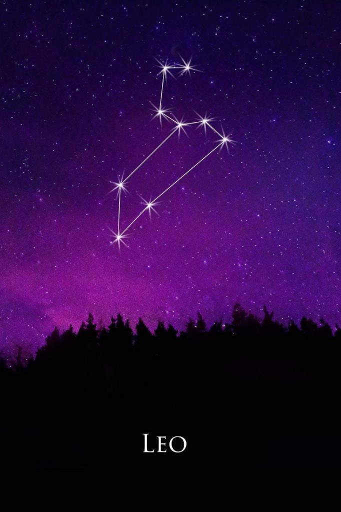 Созвездие льва на небе фото среди звезд