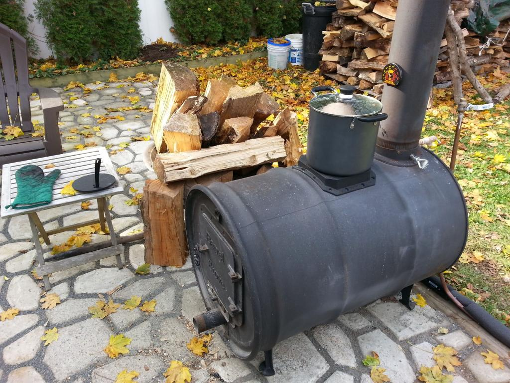 печь буржуйка из 200 л бочки