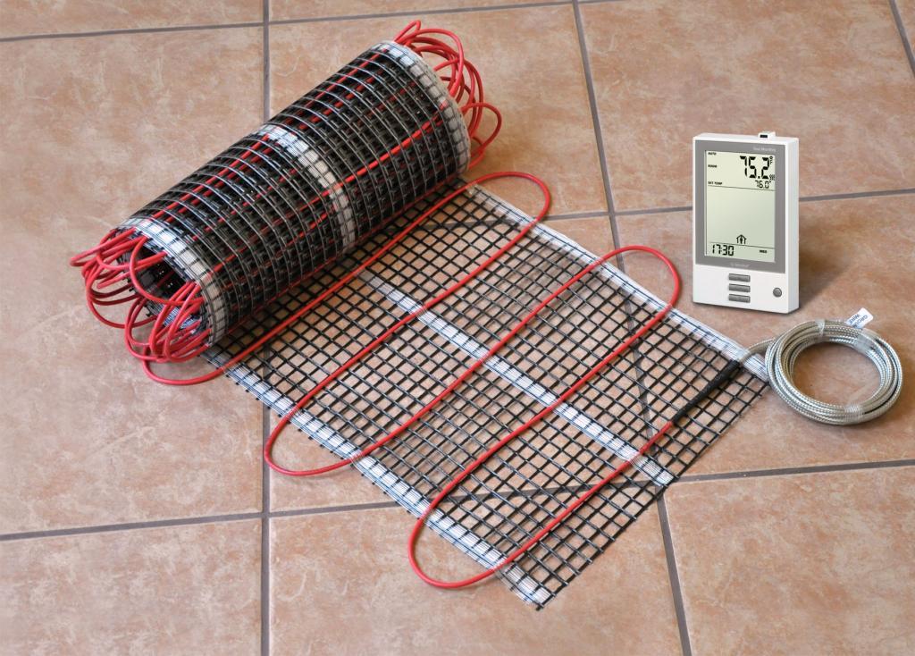 electric underfloor heating: voltage check