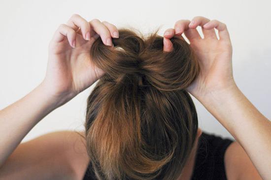 прическа бант для длинных волос