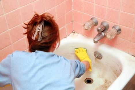как отчистить старую ванну