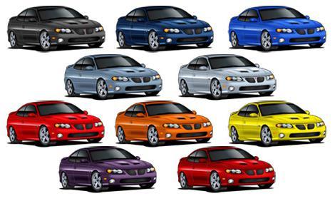 цвета машин ВАЗ