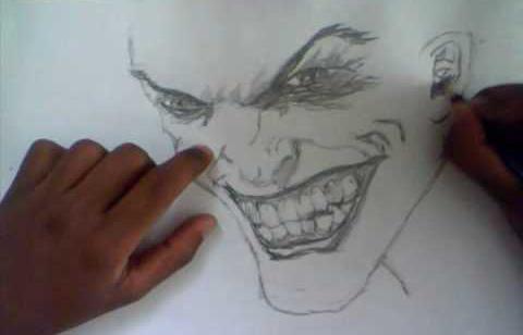 как нарисовать джокера