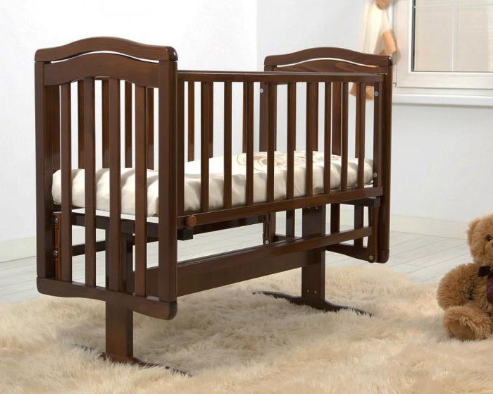 детская кроватка маятник гандылян