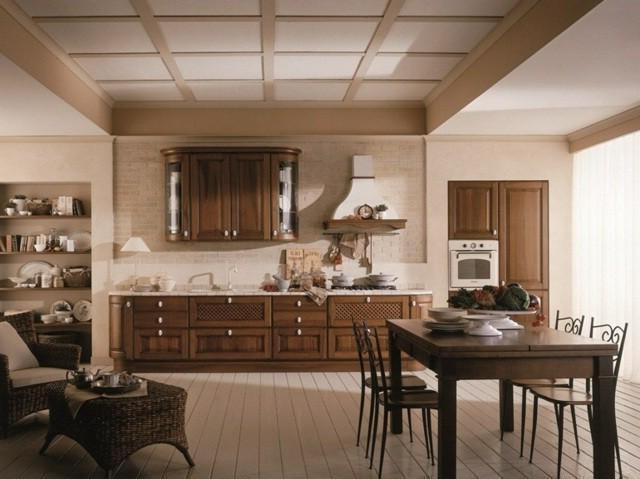 гостиная столовая в стиле кантри