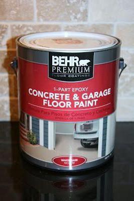 чем покрасить бетонный пол в гараже