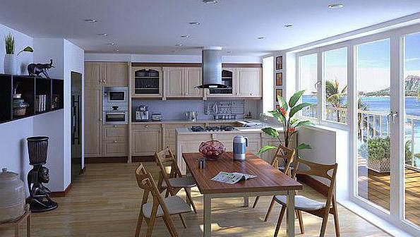 кухня совмещенная с маленькой комнатой