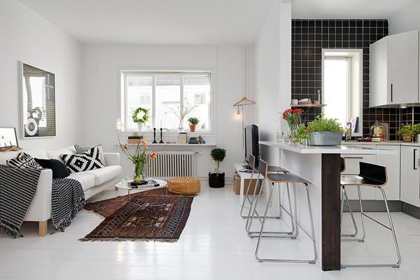 кухня с комнатой совмещенная в хрущевке