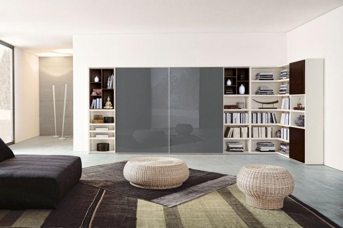 модульные стенки для гостиной угловые