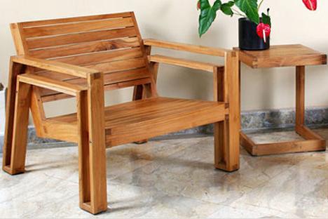 Садовая мебель своими руками из бруса 64